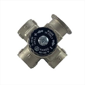 Luxusheat Nickel Plated 4 Way Thermostatic Valve for Compact Control Set