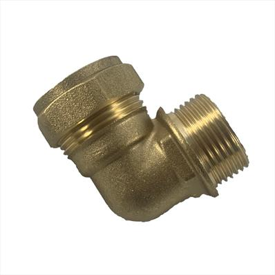 Brass Elbow Compression Fitting for Compact Control Set