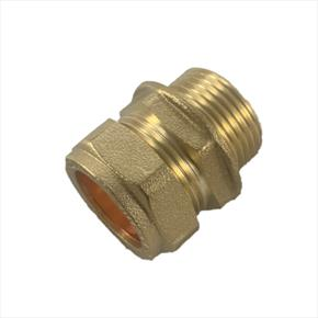 Luxusheat Brass Straight Male Compression Fitting for Compact Control Set