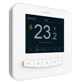 Heatmiser Smart Stat Wi-Fi White Thermostat